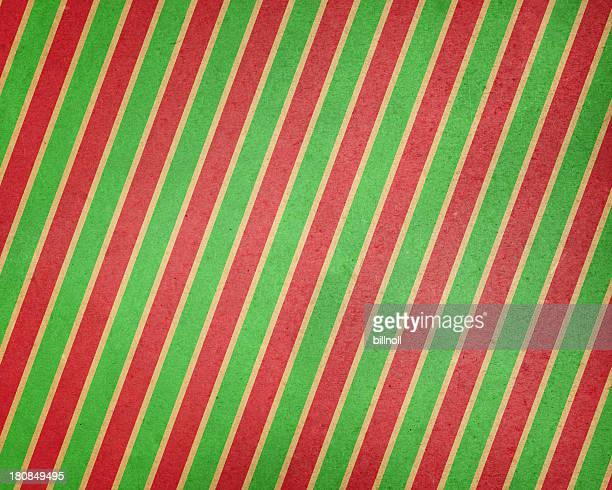 brown paper with holiday stripes
