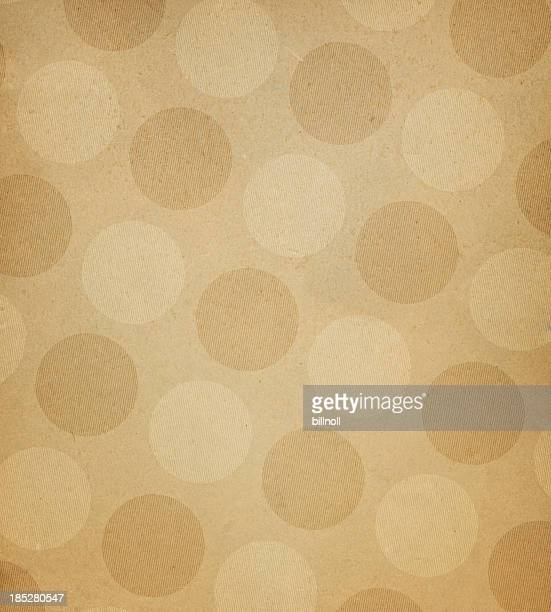 brown paper with large dots