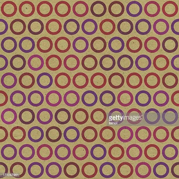 Papel marrón con anillo patrón sin costuras de color