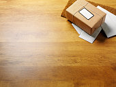 Brown Parcel and Business Correspondence