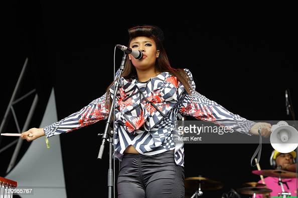 VV Brown perform on Day 1 of The Lovebox Weekender on July 18 2009 in London England