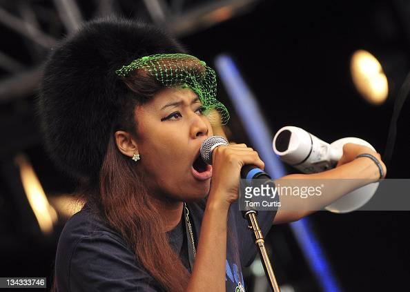 VV Brown performs at Party in the Park on July 26 2009 in Leeds England