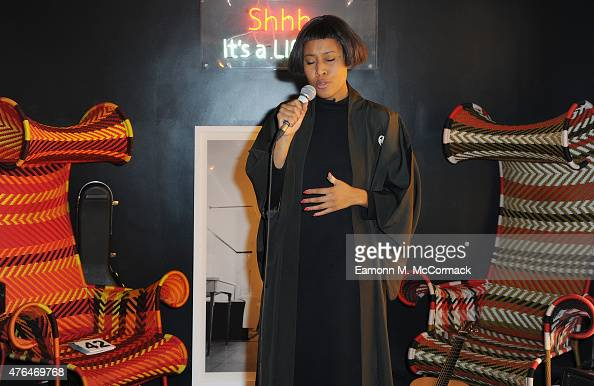Brown performs at the Elephant Haven charity art auction on June 9 2015 in London England