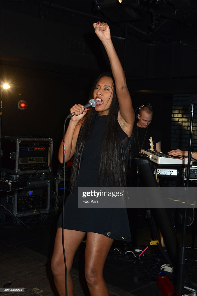 Brown performs during The VV Brown Show Case Hosted By Paco Rabanne Excess Diary Perfume at the Tiitty Twister Club on November 28 2013 in Paris...