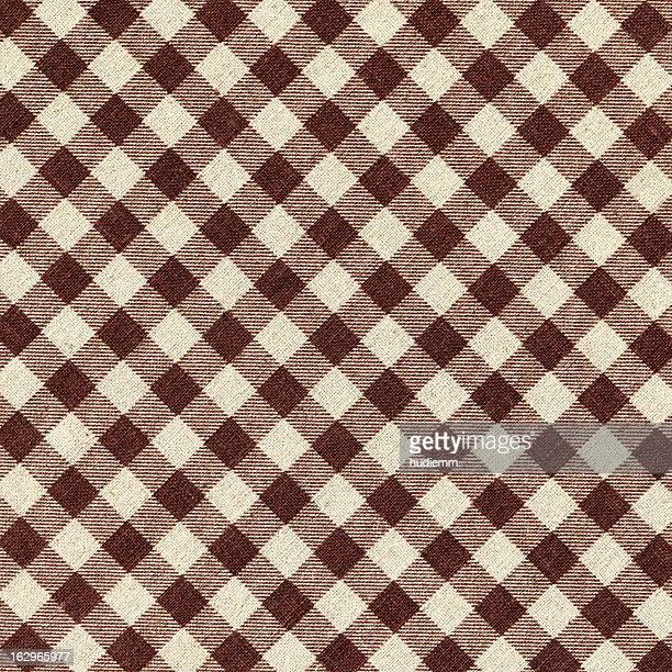 Brown Plaid Fabric background textured