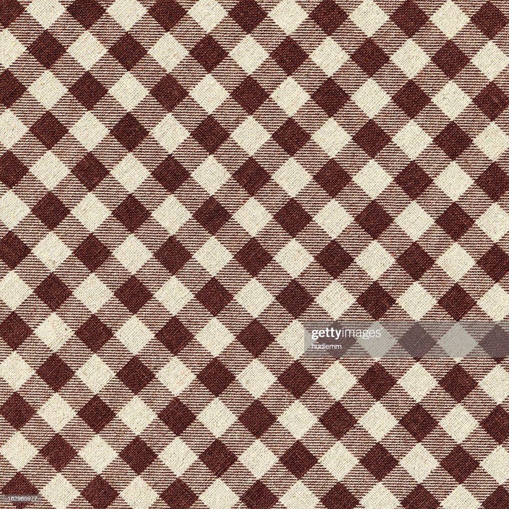 Brown Plaid Fabric