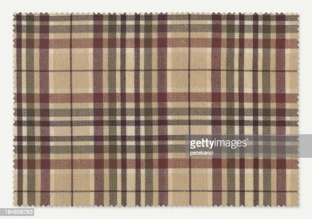 Motif écossais brun Échantillon de tissu