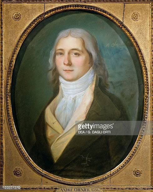 L Brown Portrait of André Marie Chénier French poet 1786