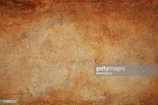 Marrón Roman grunge fondo de textura de pared, Roma, Italia