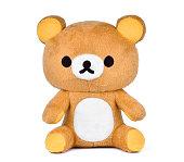 brown teddy bear isoalted on white background