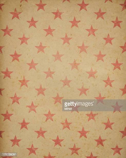 Texture de papier brun avec des étoiles