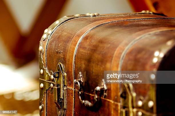 Brown wooden chest