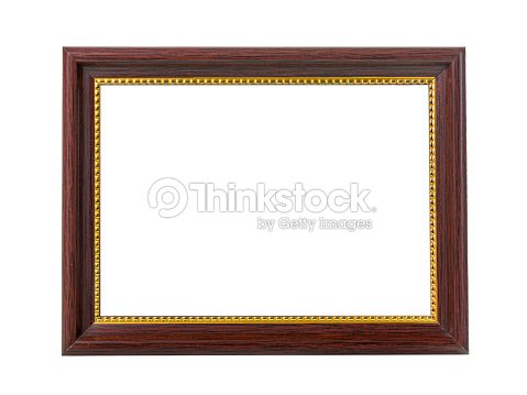 Brown Wooden Frame For Painting Or Picture Isolated Stock Photo ...