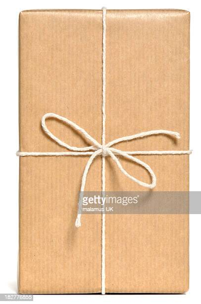 Brown wrapped parcel