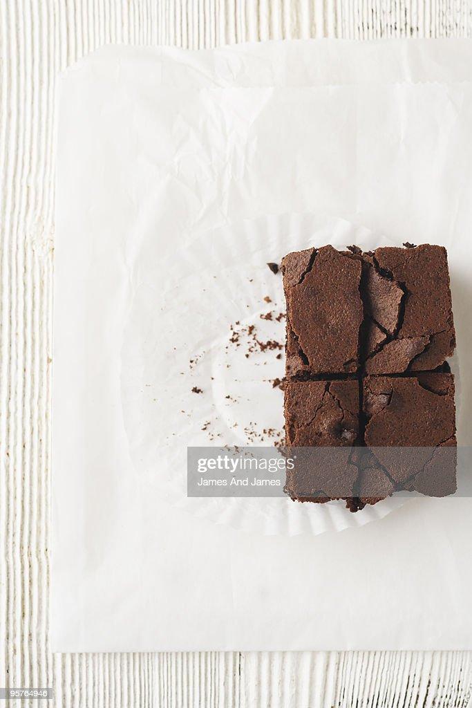 Brownie Cut  : Stock Photo
