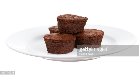 Brownies on a Plate : Stock Photo