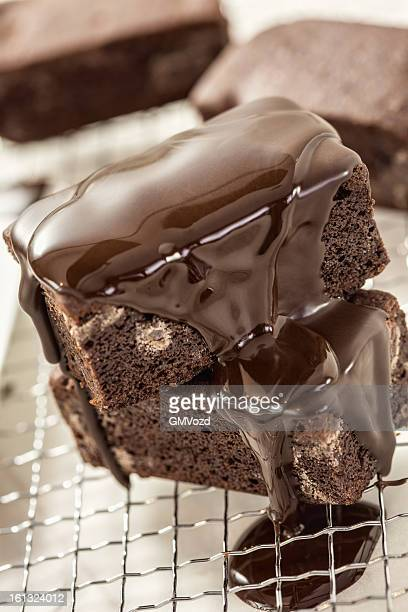 Brownies with Chocolate Sauce