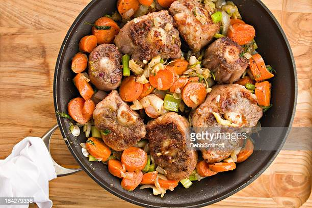 Browning Oxtails And Vegetables For Soup