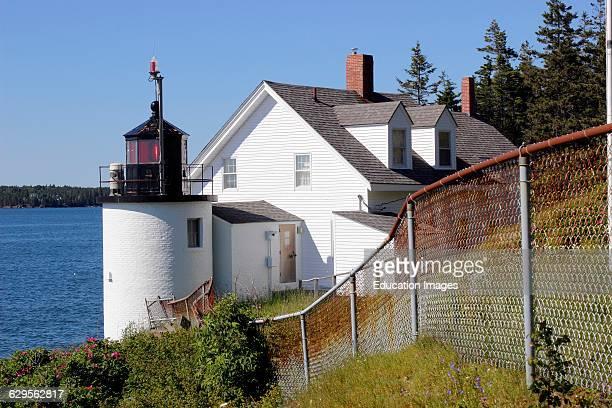 Browns Head Light lighthouse Vinalhaven Island Maine New England USA