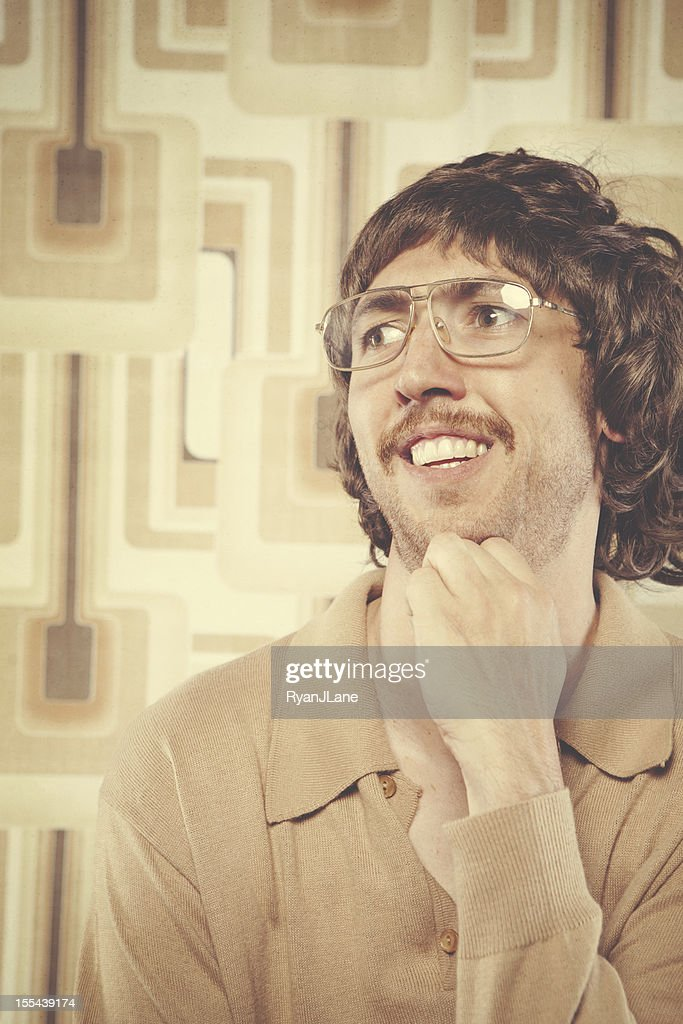 Browns Retro Man : Stock Photo