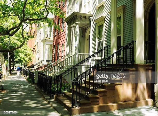 Brownstones,NYC.