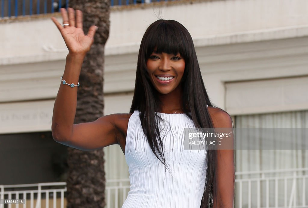 Brtitish model Naomi Campbell poses during a photocall for the TV show 'The Face' as part of the MIPCOM audiovisual trade fair on October 8, 2013 in Cannes, southeastern France.
