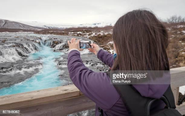 Bruarfoss, idylic waterfall in Iceland