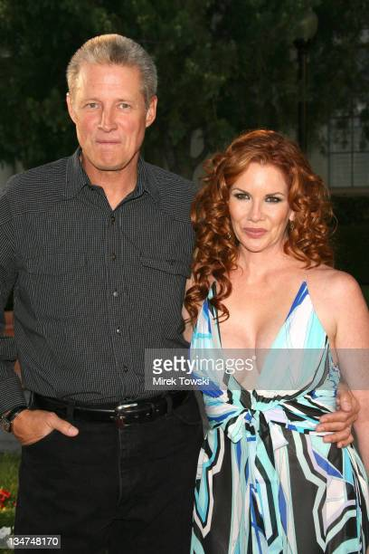 Bruce Boxleitner and Melissa Gilbert during Season Four premiere of 'Nip/Tuck' Los Angeles Arrivals at Paramount Studios in Hollywood CA United States