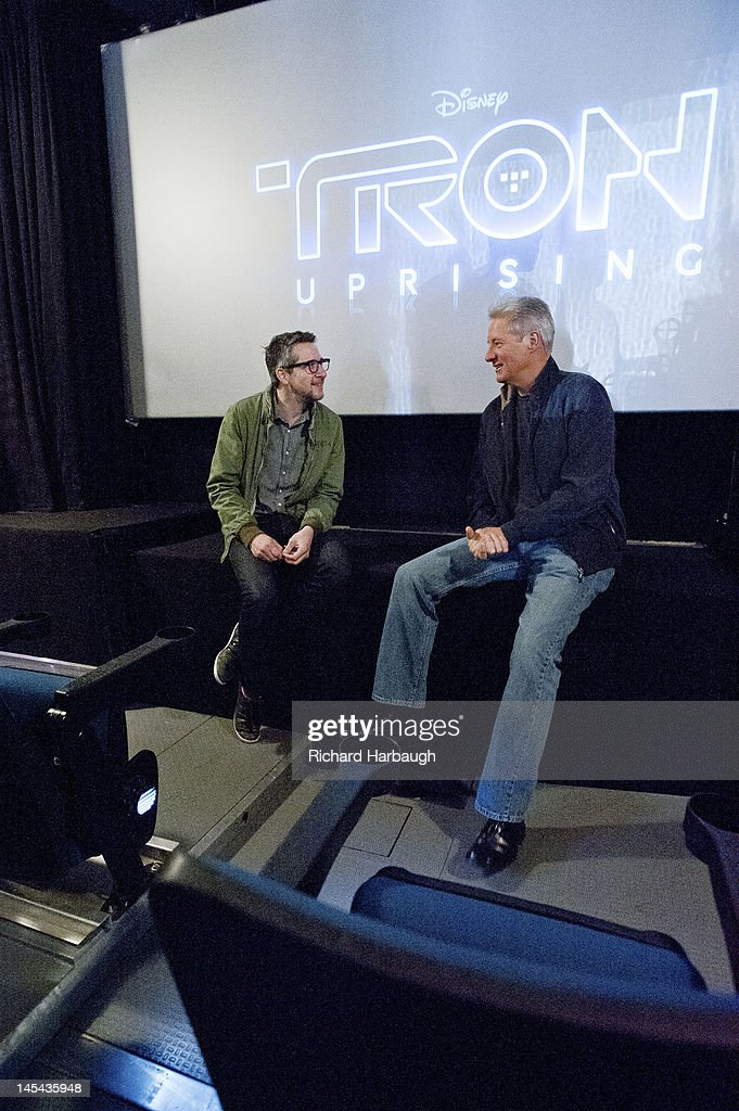 UPRISING - Bruce Boxleitner ('Tron'), Charlie Bean, executive producer and director, 'TRON: Uprising,' and David Levine, vice president and general manager, Disney XD Worldwide) unveil 'TRON: Uprising' state of the art theatre on wheels screenings at Hollywood & Highland on Saturday, May 26. , BRUCE