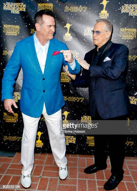Bruce Campbell and Lee Majors attend the 43rd Annual Saturn Awards at The Castaway on June 28 2017 in Burbank California