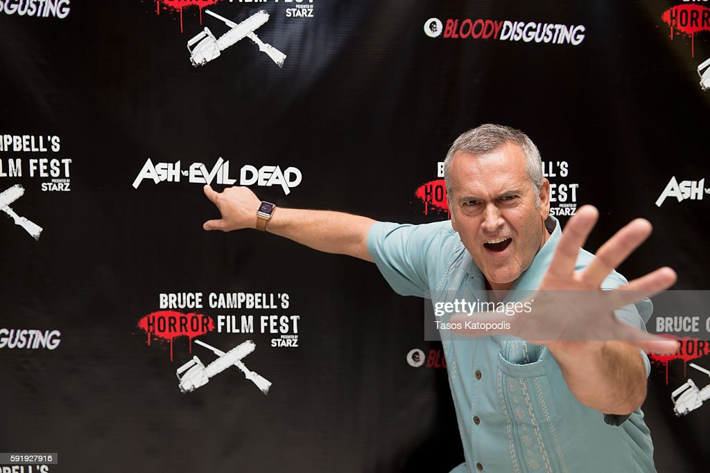 Bruce Campbell attends DON'T BREATH Screening at Bruce Campbell Horror Film Festival on August 18, 2016 in Rosemont, Illinois.