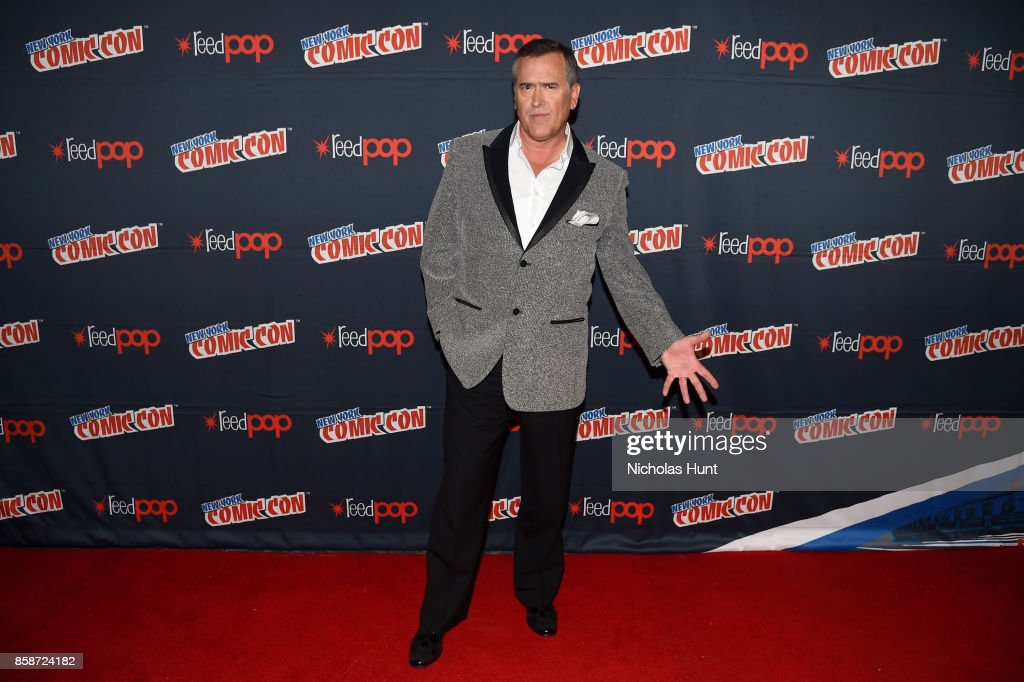 Bruce Campbell attends the Ash Vs Evil Dead Panel during 2017 New York Comic Con - Day 3 on October 7, 2017 in New York City.