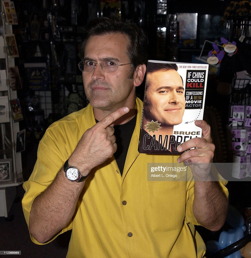 "Bruce Campbell Signs His Book ""If Chins Could Kill: Confessions of a B Movie"