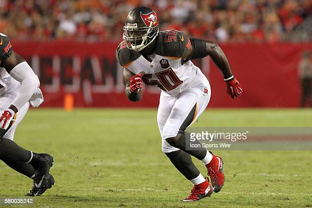 Bruce Carter of the Buccaneers during the Preseason game between the Cleveland Browns and the Tampa Bay Buccaneers at Raymond James Stadium in Tampa...