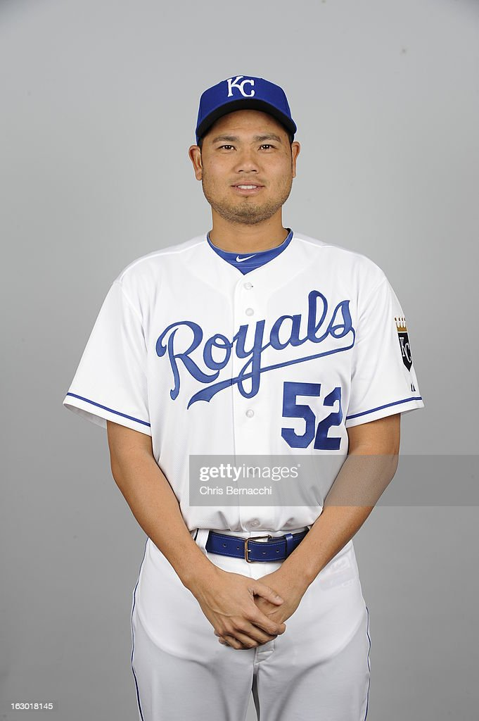 <a gi-track='captionPersonalityLinkClicked' href=/galleries/search?phrase=Bruce+Chen&family=editorial&specificpeople=213886 ng-click='$event.stopPropagation()'>Bruce Chen</a> #52 of the Kansas City Royals poses during Photo Day on February 21, 2013 at Surprise Stadium in Surprise, Arizona.