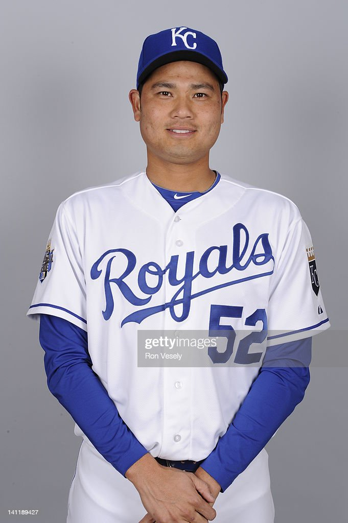 <a gi-track='captionPersonalityLinkClicked' href=/galleries/search?phrase=Bruce+Chen&family=editorial&specificpeople=213886 ng-click='$event.stopPropagation()'>Bruce Chen</a> #52 of the Kansas City Royals poses during Photo Day on Wednesday, February 29, 2012 at Surprise Stadium in Surprise, Arizona.
