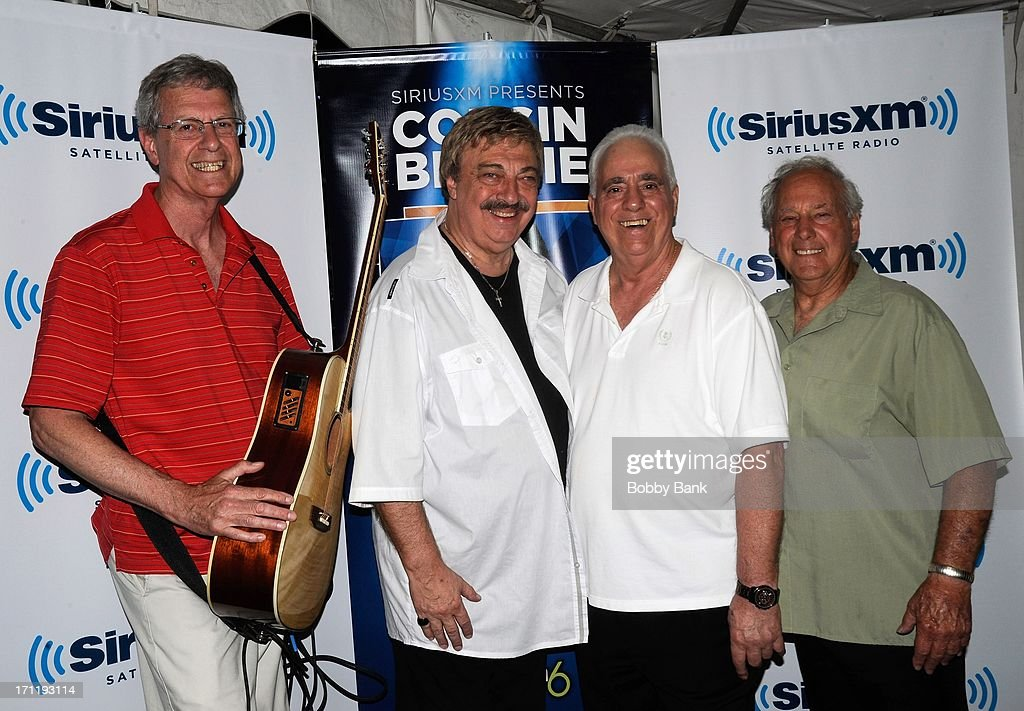Bruce Copp, Vito Picone; Antonio Amato, Vincent Moschello of The Elegants attend the Cousin Brucie's First Annual Palisades Park Reunion Presented By SiriusXM at State Fair Meadowlands on June 22, 2013 in East Rutherford, New Jersey.