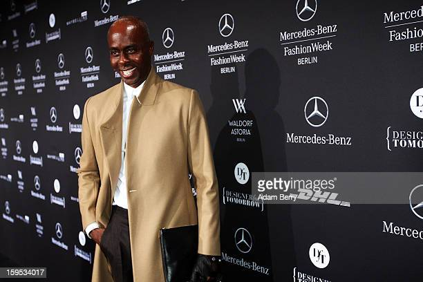 Bruce Darnell attends Marc Stone Autumn/Winter 2013/14 fashion show during MercedesBenz Fashion Week Berlin at Brandenburg Gate on January 15 2013 in...