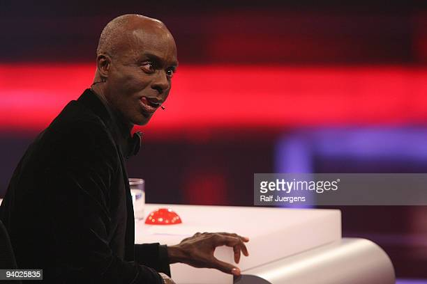 Bruce Darnell performs during the 2nd semi final of the TV show 'Das Supertalent' on December 5 2009 at the Coloneum in Cologne Germany