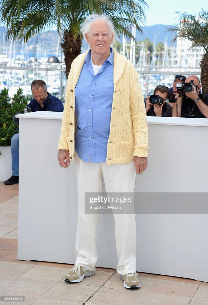 <a gi-track='captionPersonalityLinkClicked' href=/galleries/search?phrase=Bruce+Dern&family=editorial&specificpeople=239171 ng-click='$event.stopPropagation()'>Bruce Dern</a> attends the Photocall for 'Nebraska' during The 66th Annual Cannes Film Festival at the Palais des Festival on May 23, 2013 in Cannes, France.