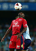 Bruce Djite of United controls the ball during the round 18 ALeague match between Sydney FC and Adelaide United at Allianz Stadium on February 8 2014...