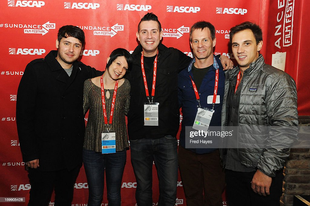 Bruce Driscoll, Melissa Emert-Hutner, Senior Director, Membership - Pop/Rock ASCAP Marc Emert Hutner, Michael Farrell and Associate Director, Pop/Rock Evan Trindl attend the ASCAP Composer Filmmaker Cocktail Party at ASCAP Music Cafe during the 2013 Sundance Film Festival on January 22, 2013 in Park City, Utah.