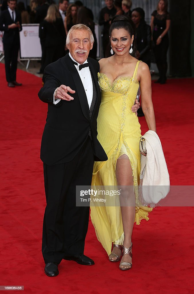 Bruce Forsyth and Wilnelia Forsyth attend the Arqiva British Academy Television Awards 2013 at the Royal Festival Hall on May 12, 2013 in London, England.