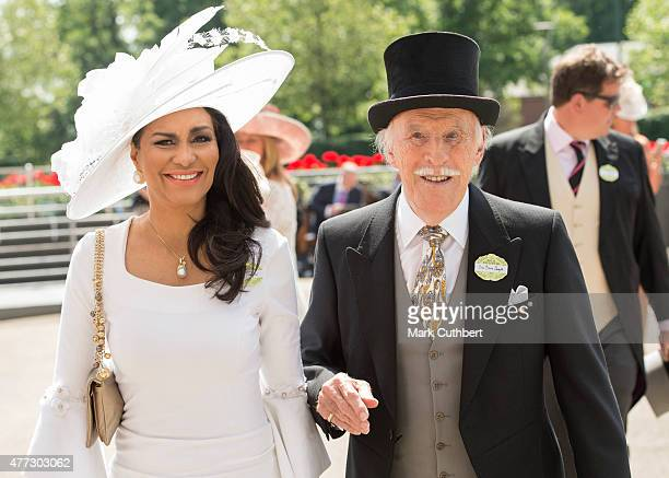 Bruce Forsyth and Wilnelia Forsyth on day 1 of Royal Ascot at Ascot Racecourse on June 16 2015 in Ascot England