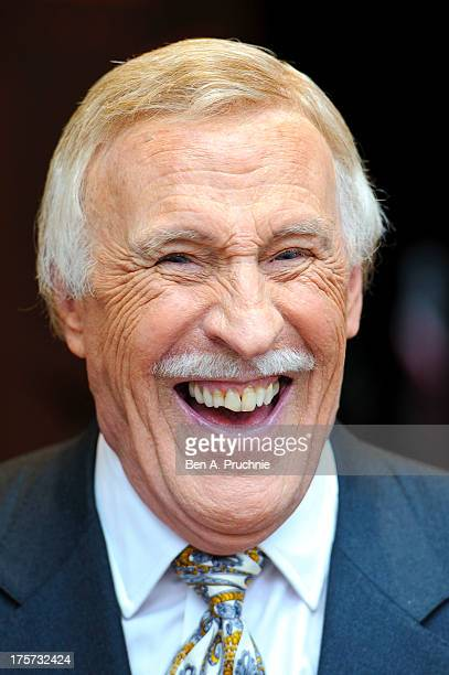 Bruce Forsyth attends a plaque unveiling ceremony at Hippodrome Casino on August 7 2013 in London England Two plaques were unveiled one to mark Bruce...