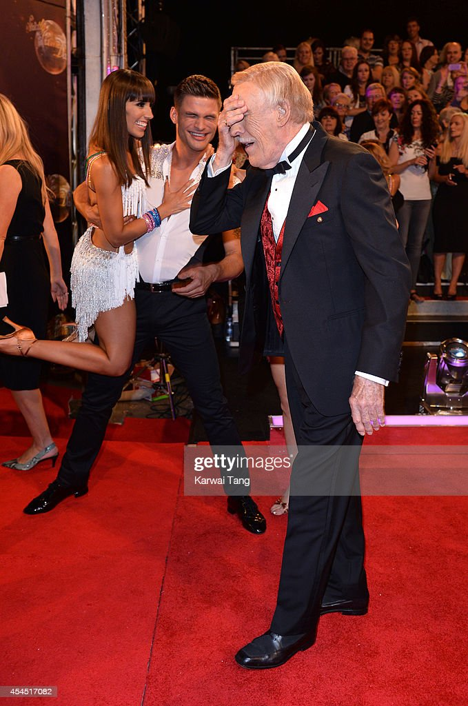 Bruce Forsyth attends the red carpet launch for Strictly Come Dancing 2014 at Elstree Studios on September 2, 2014 in Borehamwood, England.