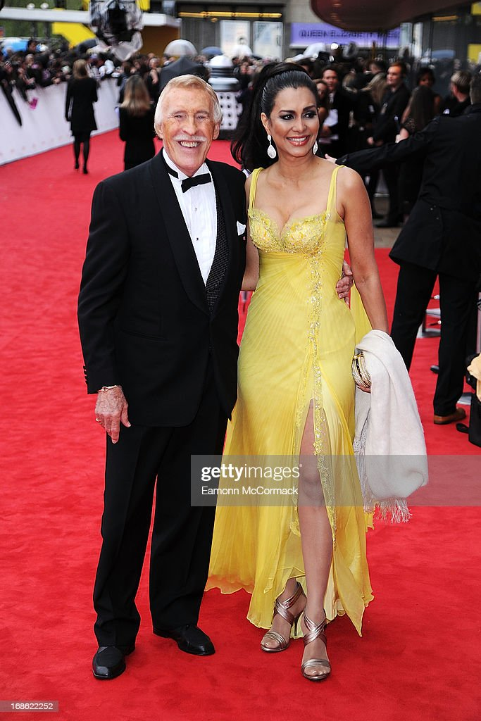 Bruce Forsyth & Wilnelia Merced attends the Arqiva British Academy Television Awards 2013 at the Royal Festival Hall on May 12, 2013 in London, England.