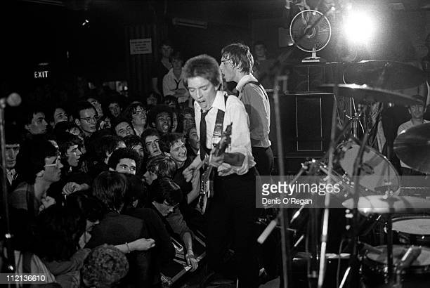 Bruce Foxton and Paul Weller of The Jam in concert at the 100 Club in London 1977