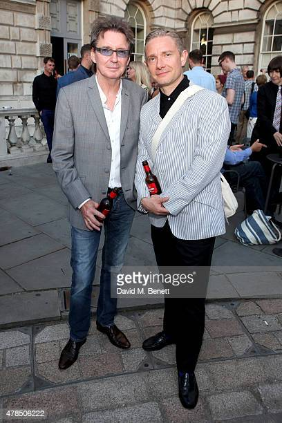 Bruce Foxton of The Jam and actor Martin Freeman attend the private view of The Jam About the Young Idea at Somerset House in London on June 25 2015...
