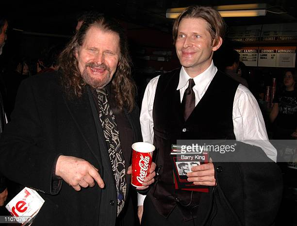 Bruce Glover and son Crispin Glover during American Cinematheque Presents Crispin Hellion Glover's 'What Is It' the Big Slide Show at Egyptian...